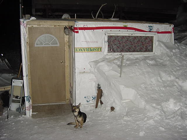 This is the shack my host Adamee made by himself and he uses is it to make his carvings. So, no, this is not a typical Iqaluit house!