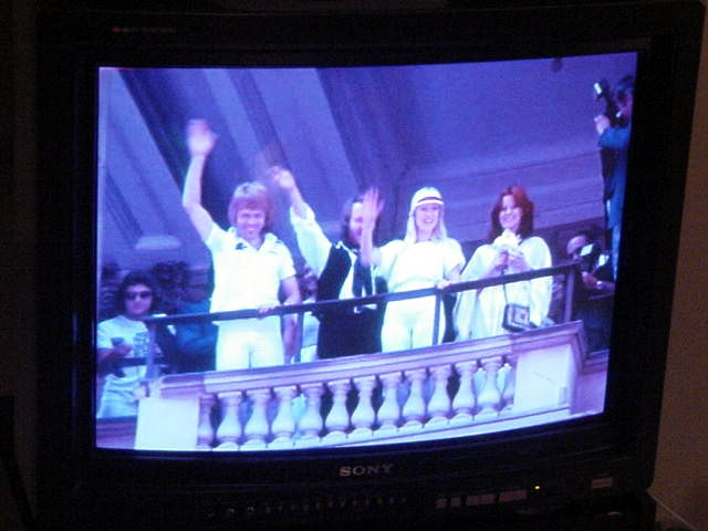 And a bit later everybody gathered in the living room to watch Abba: The Movie.