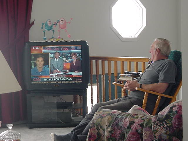 Lori s 73-year-old father was watching WarTv all day long.