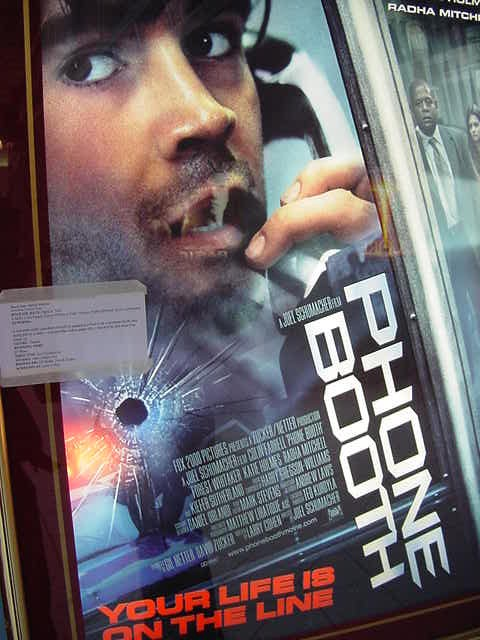 Set entirely within and around the confines of a New York City phone booth, PHONE BOOTH follows Stu Shepard (Colin Farrell), a low-rent media consultant who is trapped after being told by a caller - a serial killer with a sniper rifle - that he will be shot dead if he hangs up. Quite interesting story!