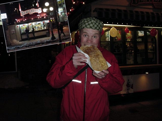 We had a walk around on York street and Lori told me I really had to try out a original beaver tail!