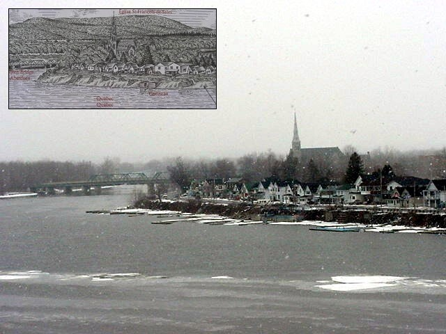 Looking over the river from Rockcliffe Park. On the other side, nothing seems to have changed that much, is Quebec.