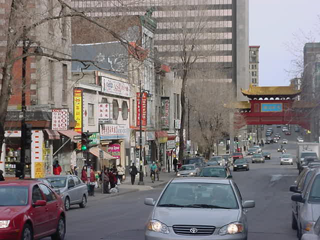 Mark took me along for a good walk around town, here we arrived in Chinatown Montreal.