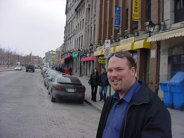 Mark Burwash at the site of the Old Port.
