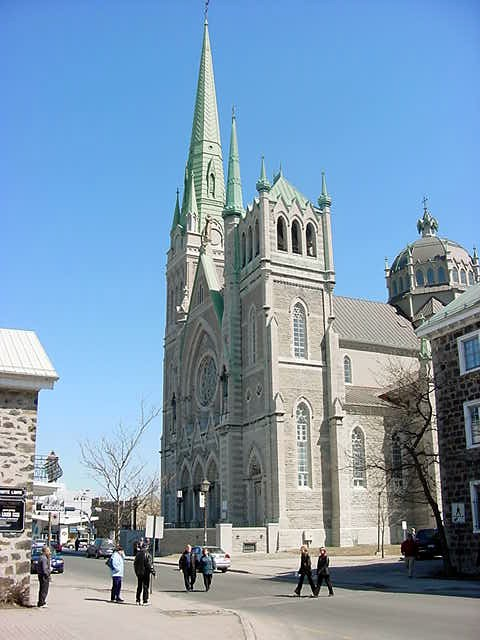 When this church was built, the original town of Longueuil was built around it.