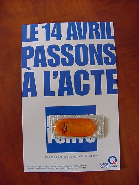 On April 14 you do an act of passion... What a way to promote a political party and a reason to vote for them?