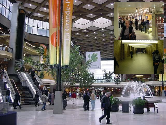 The Montreal Underground City is a place where the residents of Montreal hide when it gets really cold. Down here are shops, offices and you can even stay in an underground hotel room!