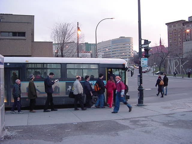 I was fascinated, people stand in line nicely, when they wait for and board a bus. What a great example for my home country!