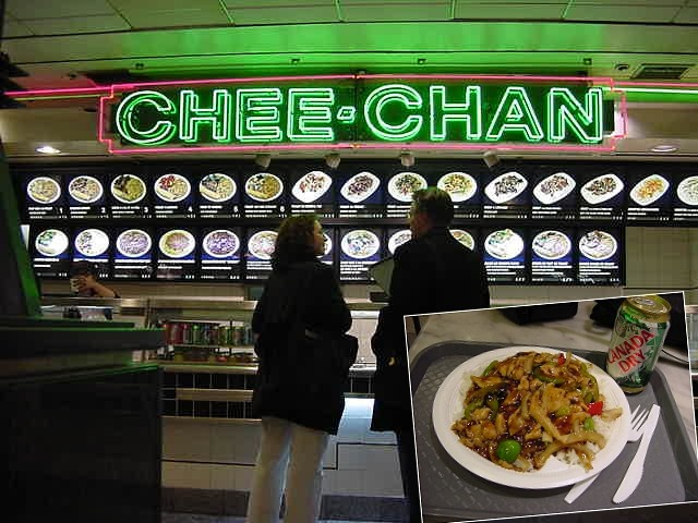 I bought myself some supper with the money Sandy had given me at one of the food courts on the tunnel level of... >>
