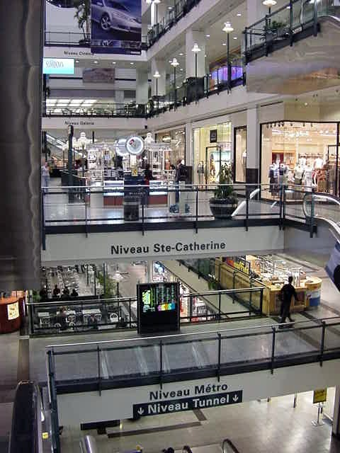 >> The Eaton Centre, which is another part of the Underground City.
