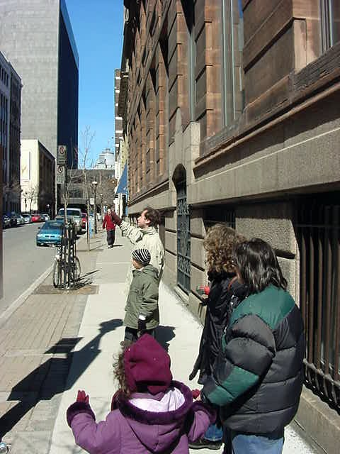 And the Paris family really enjoyed the old historic buildings in Old Montreal.
