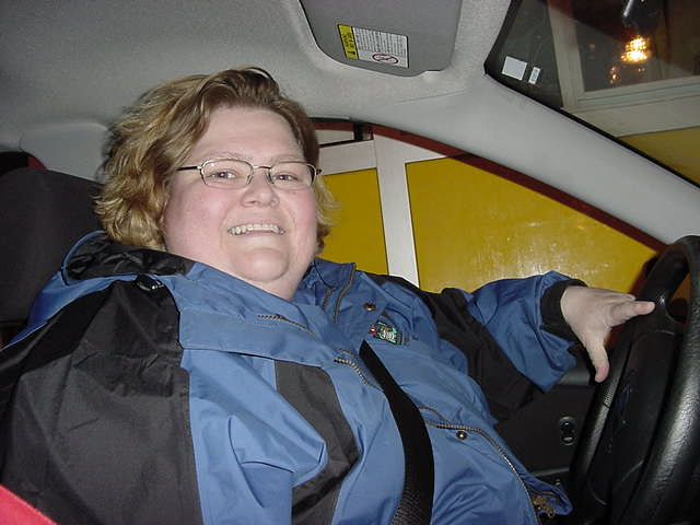 Meet my hostess Ann Guy from Verdun. She picked me up downtown.