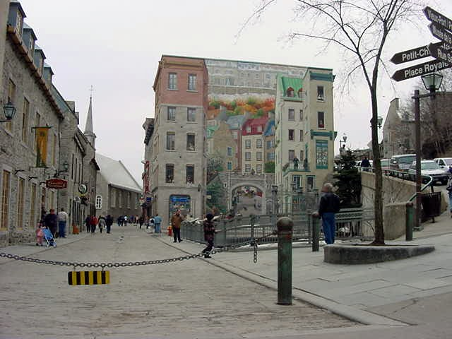 Entering the Lower Town of Quebec.