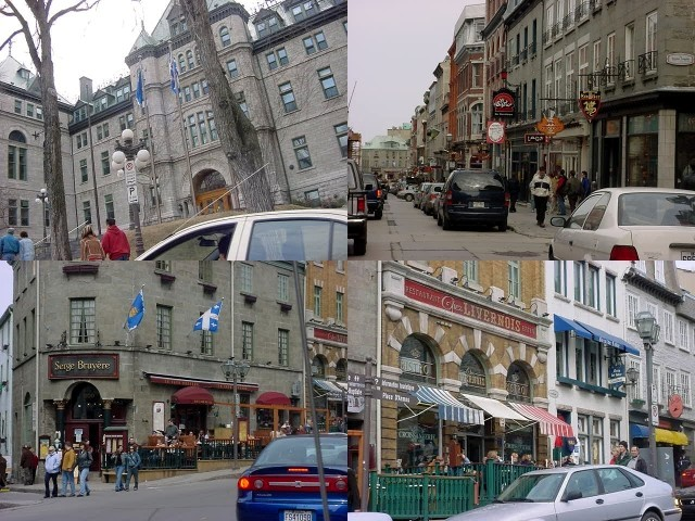 We drove back into the enclosed city centre of Quebec City, where I was overwhelmed by the beauty of the city<#k#>'s Quartier Latin.