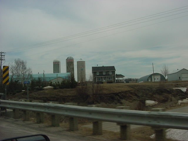 Hills, farmland, farm houses...