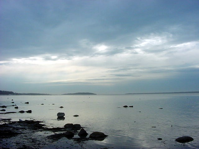 My sight on the St-Lawrence River from the boulevard in Rimouski.