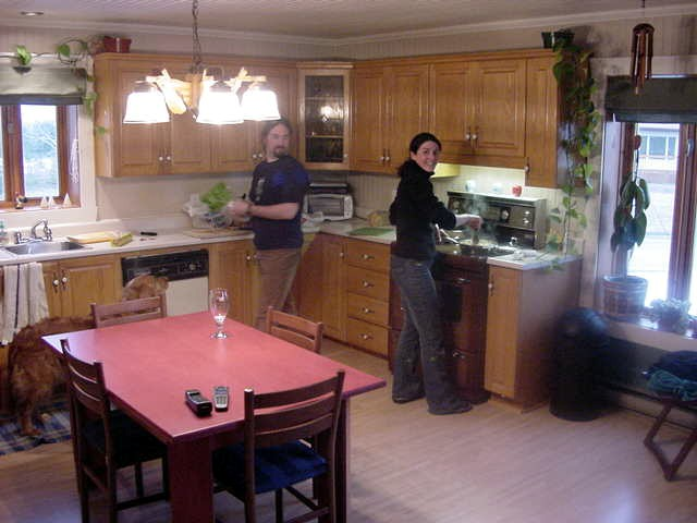 Martin and Valerie have a huge kitchen!