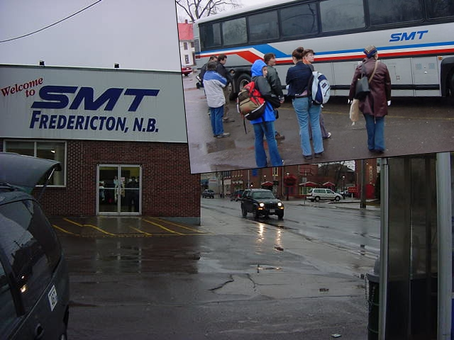 The bus trip was a succes! With only a few raindrops I arrived safely in Fredericton.