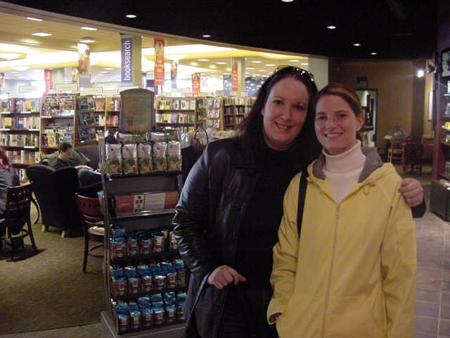 It was at the bookstore of the local mall, my hostesses Sarah and Melanie picked me up all the way from Saint John.