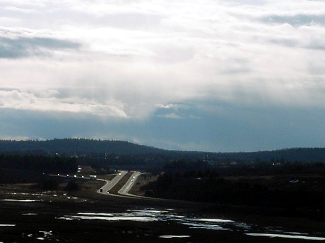This is where there came an end to days of clouds and dreary rain. The sun broke through above Saint John.