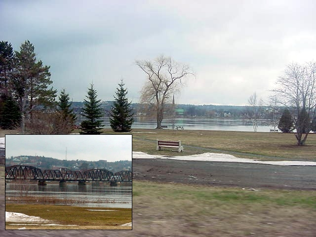 The Saint John River in Fredericton is at its all time height at the moment.