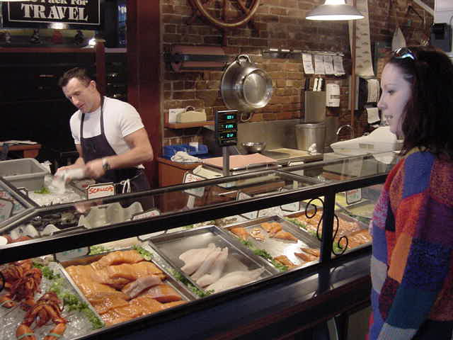 I do not meet many people that polite and friendly as at Billy s Sea Food place at the market. And look at those fish!