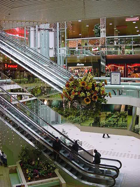 The inside look of the Lancaster Mall, like any other modern mall.