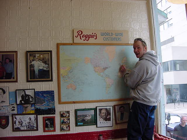 And hey! As I was an international customer, I was asked to pin my originating country on the world map!
