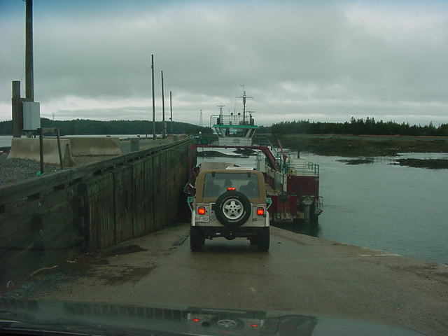 We made it to the 2.30pm ferry at St. George. From here the ferry takes us across to to Deer Island.