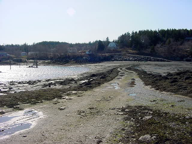 And actually, with low tide this road appears to the Bar Island across the water from Dana s house!