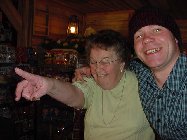 It is hard to get grandmother MacLeod on the photo, but when the party starts this morning, she gets grooving!