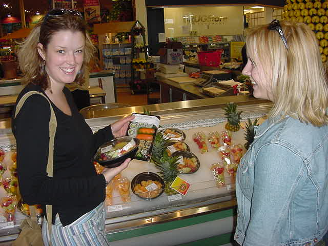Laurie asked if I had any lunch yet and then bought me my own plate of sushi at the supermarket.