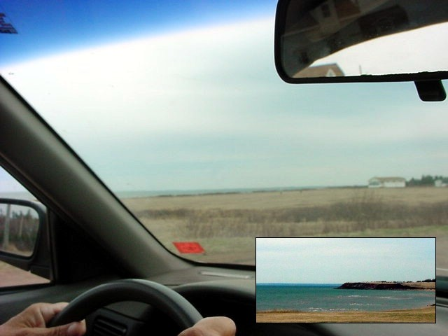 My next driver took a scenic short cut along the Northumberland Strait.