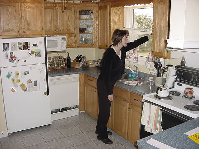Lynn in her kitchen of her comfy home in Stratford, a neighbouring municipality of Charlottetown.