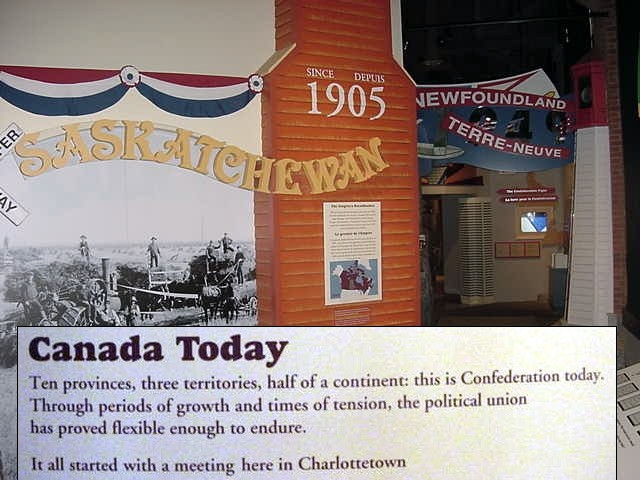 And it continued throughout the entire history of the country and on how all the other provinces got their name and existence. Charlottetown is pretty proud with this.