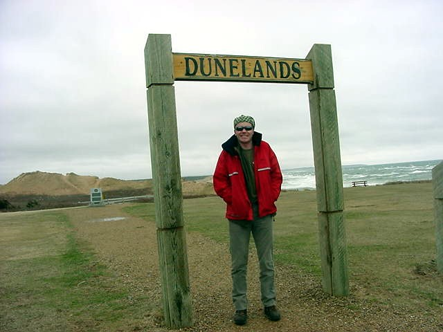 This is where the dunelands begin. Quite windy. We got out the car, took the photo and got in the car again. That was enough for us. We were ready for a warm cup of coffee then!