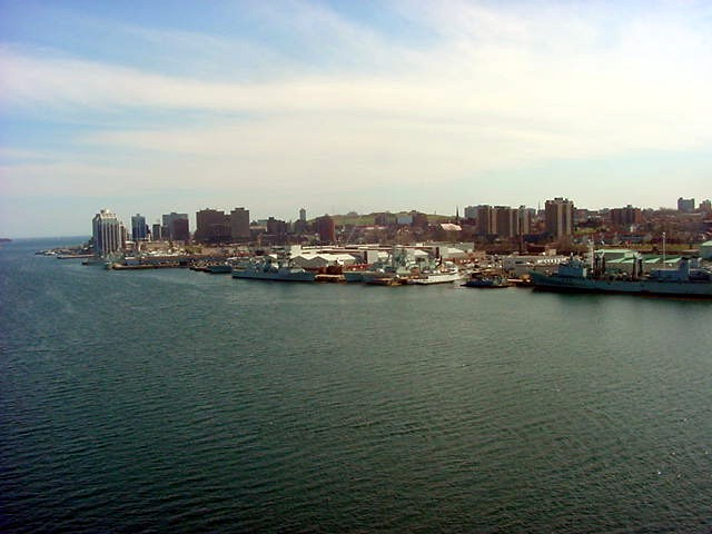 And the view to the small city of Halifax.