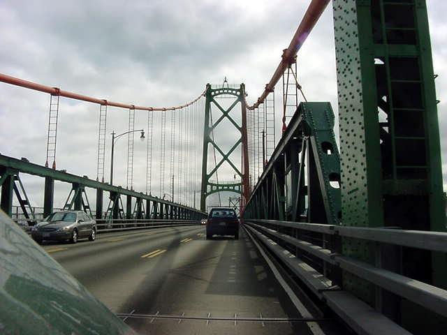 On the bridge towards Halifax.