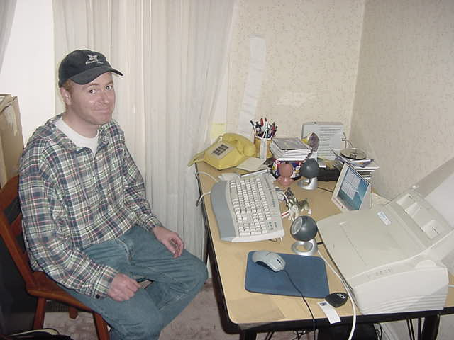 Look how disappointed Jamie looks. His computer monitur literary blew up last week and he has been stuck withouth the net since then...
