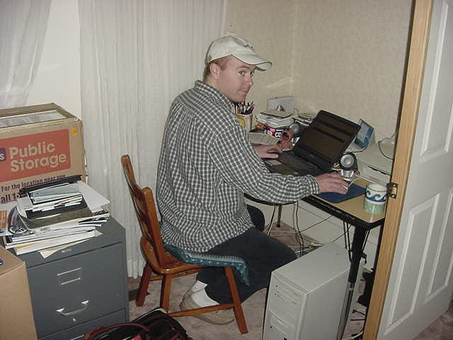Jamie is happy to use my laptop to do his own web surfings. I have heard he looks a bit like me, doesnt he?