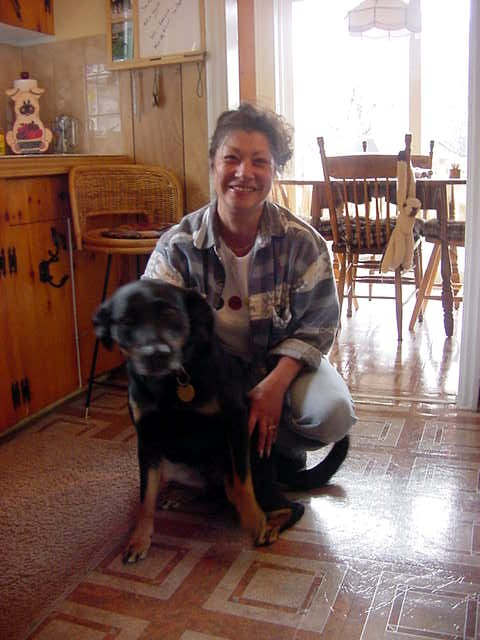 Meet Leslie Sampson and her dog Cleo.