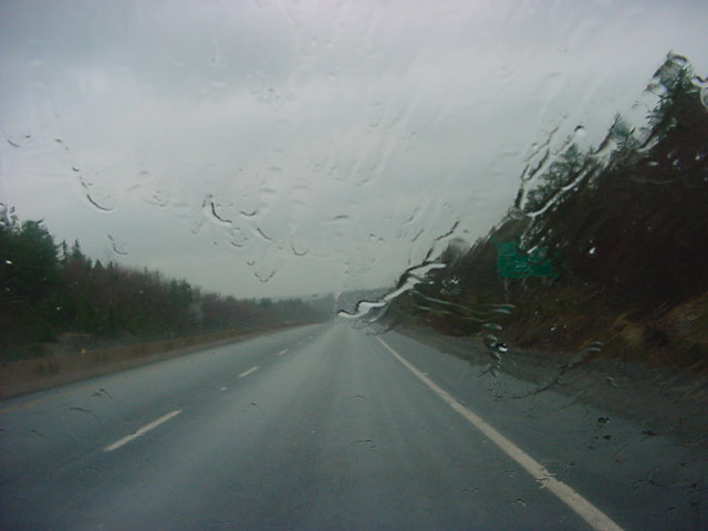 My hostess Leslie brought me all the way up to my next destination in Lower Sackville, one half an hour from Halifax. The weather was... oh well... never mind that weather...