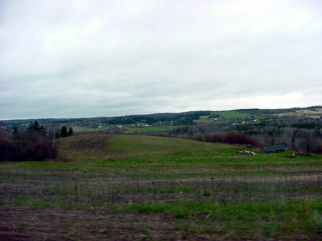 She lives along the Pictou River Valley, a green patch that goes down south from New Glasgow. Rolling green hills everywhere, just like Scotland!