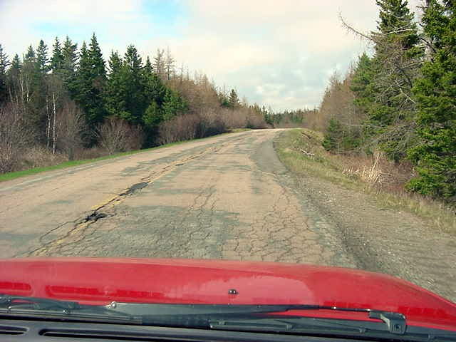I have discovered that from Quebec on the roads in Canada get bad, well it might not get any worse than here in Cape Breton! At some places the roads contained more potholes and different colours of recovery patches than the surrounding scenery had to offer!