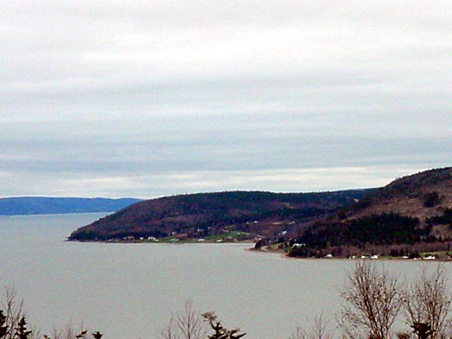 We drove straight through the middle of Cape Breton island, with the Bras D or Lake at our left most of the time.
