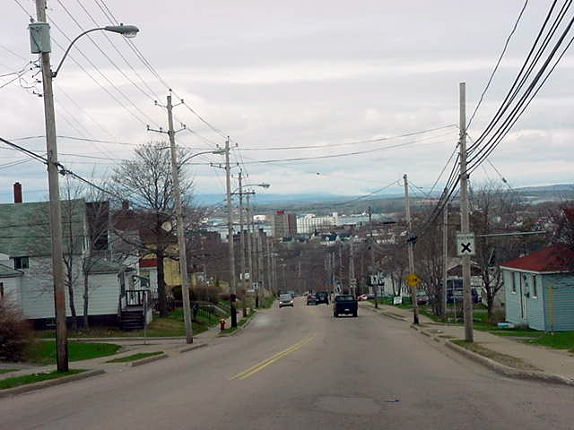 Entering Sydney, Cape Breton, Nova Scotia.