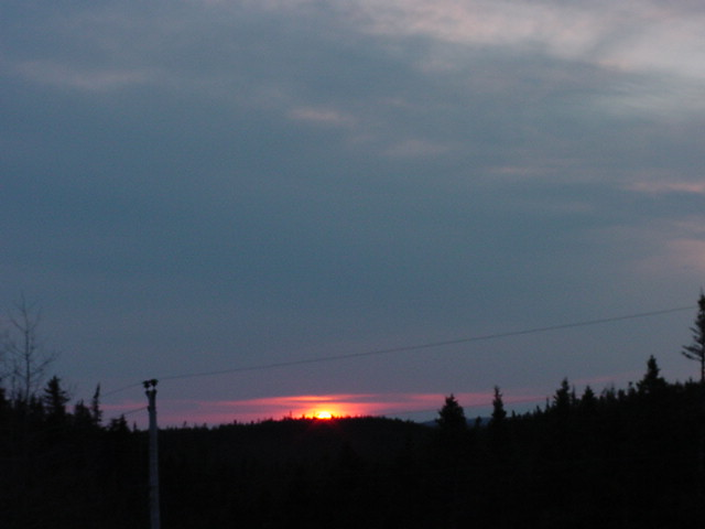 My first sunset on Newfoundland!