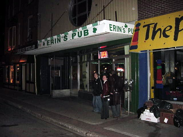 In the evening I was taken along to Erin s Pub along Water Street, the main street of St.Johns. This is the pub where Karl works himself too!