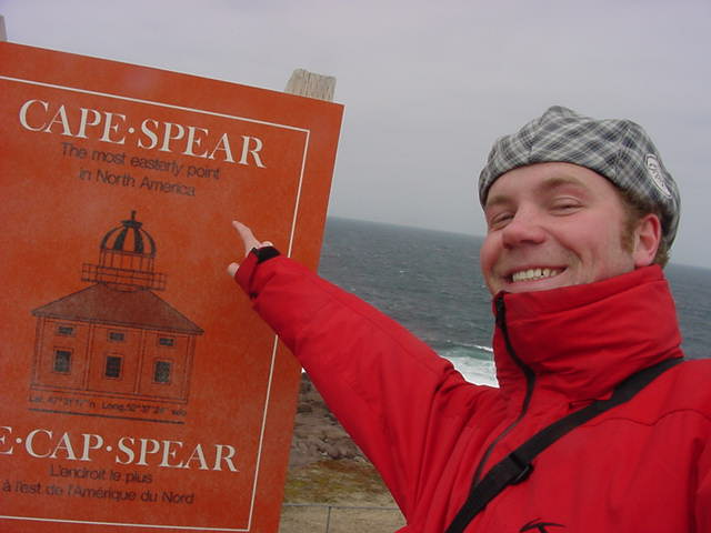 It was a a 30-minute drive to our next destination: the Cape Spear National Historic Site. This was just a place I HAD to visit, no matter what. A winding walkway encircles the cape and brought us to this sign. I can proudly say I made it all the way to the most easterly point of North America.