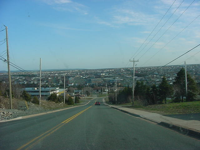 Karl had to work at the pub again, so I joined Jennifer the rest of the day, who was happy to drive me around a bit. This is the suburban city of Mount Pearl.